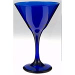 Martini Glass 9.25oz Cobalt