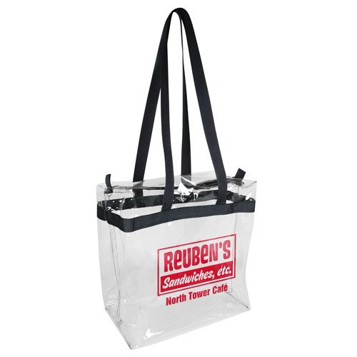 Numo - Clear Vinyl Tote Bag with Zipper