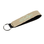 Burlap-Neoprene Wrist Strap Key Holder