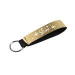 Metallic Neoprene Wrist Strap Key Holder