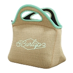 Klutch Burlap Neoprene Lunch Bag