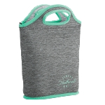 Venti Heathered Jersey Knit-Neoprene Lunch Bag