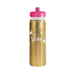 Van Metro Sport Bottle-Push Pull Cap- Metallic Neoprene
