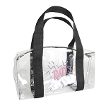 Clear Vinyl Barrel Bag