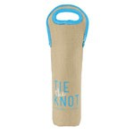 Wine Tote - Burlap-Neoprene Single