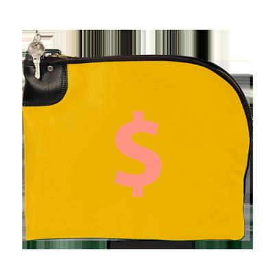 Numo Curved Zipper Night Deposit Bag Ln 12 Inches X 10
