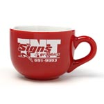 Latte Mug 16oz Red