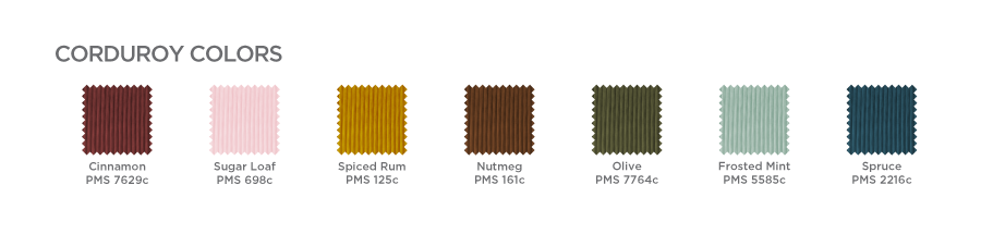 Corduroy Swatches Chart