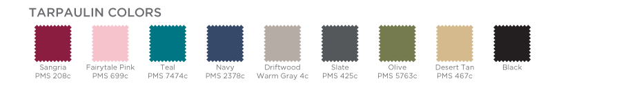 Tarpaulin Color Chart