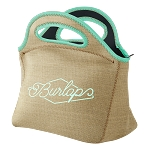 Gran Klutch Burlap Neoprene Lunch Bag