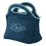 Gran Klutch Denim Neoprene Lunch Bag