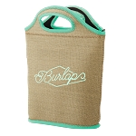 Venti Burlap Neoprene Lunch Bag