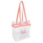 Clear Vinyl Tote with Zipper