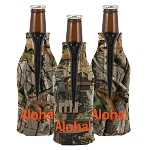 Trademarked Camo Zippered Bottle Coolie