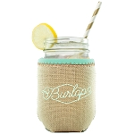 Jar Kaddy Burlap with Bias Trim