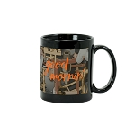 Trademarked Camo Sublimation Mug  11 oz. Black