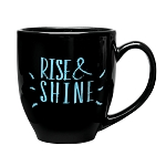 Solid-Color Bistro Ceramic Mug 16 oz. Black