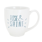 Solid-Color Bistro Ceramic Mug 16 oz. White