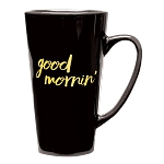 Tall Java Latte Ceramic 16 oz. Black