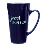 Tall Java Latte Ceramic 16 oz. Cobalt