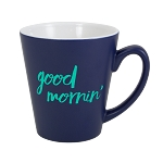 Two Tone Matte Latte Mug 12 oz. Cobalt + White