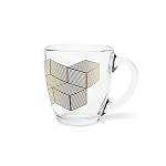 Curved Glass Decal Mug