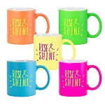Fluorescent Ceramic Mug - Matte Finish