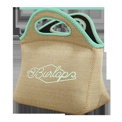 Klutch Burlap Neoprene Lunch Bag