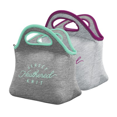 Klutch Heathered Jersey Knit Neoprene Lunch Bag