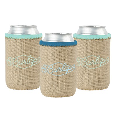Liam Burlap Neoprene Can Insulator