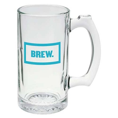 Glass Sports Mug 12 oz