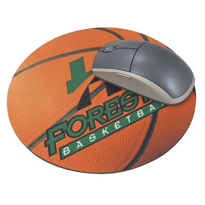 "Round Mousepad 4CP 8"" Natural Rubber"